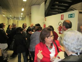 In red: Gigliola Corsini, former Manager of Feltrinelli at the Party