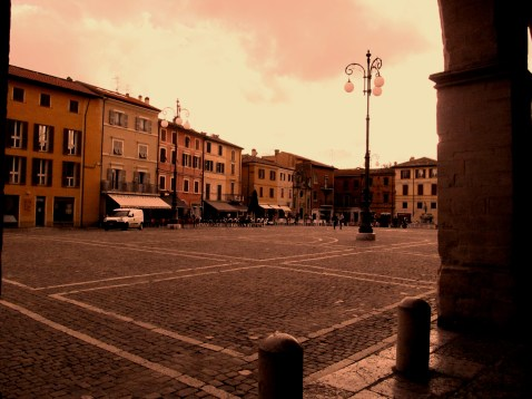 The main square in Fano