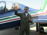 An extremely kind pilot (Public Relations) introducing us into the magic world of Frecce Tricolori