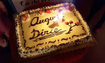 Dirce's birthday cake