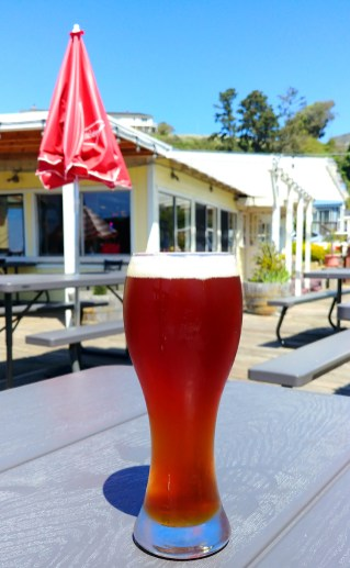 Cold afternoon beer at Noyo River Grill, Noyo Harbor, Fort Bragg California. Photo: Mary Charlebois