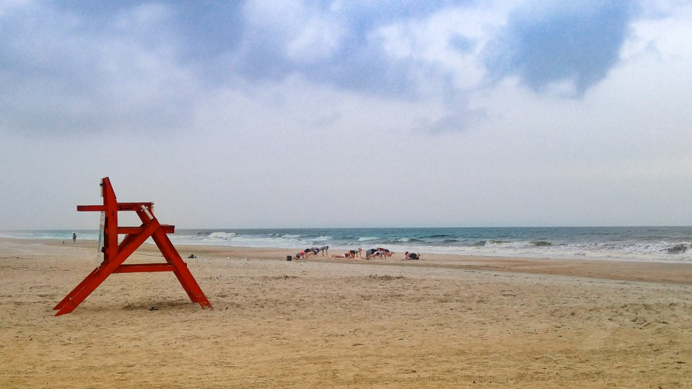 Lifeguards getting ready for the day on St Augustine Beach. Photo by Charlebois