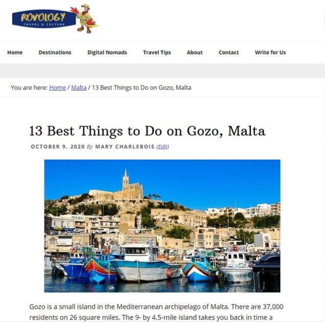Rovology - Gozo Malta Roundup