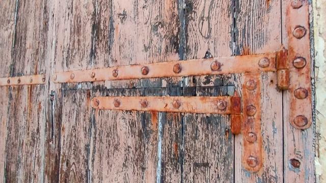 Forged iron door straps in Marsaskala, Malta