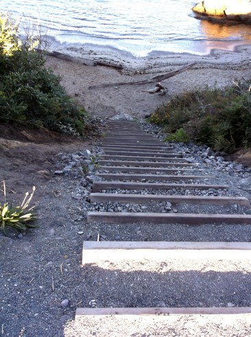 Stairs to Glass Beach. Noyo Headlands Park, Fort Bragg, CA Photographer: Mary Charlebois