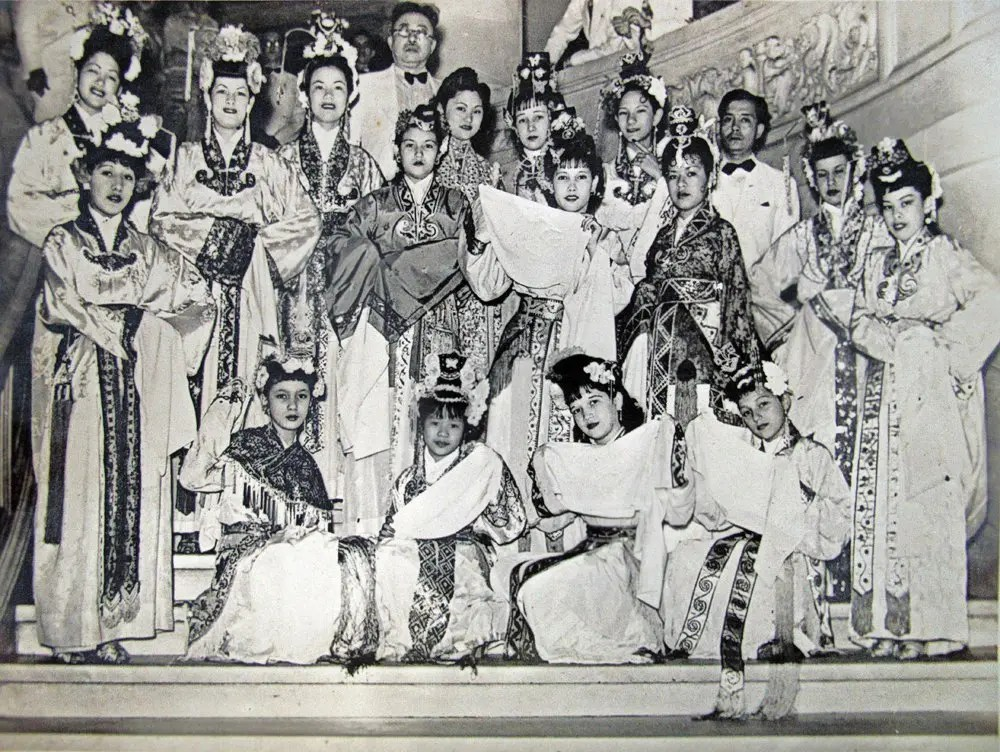 Cantonese Opera Troupe Cuba. Caridad front row right | Where My Heart Leads
