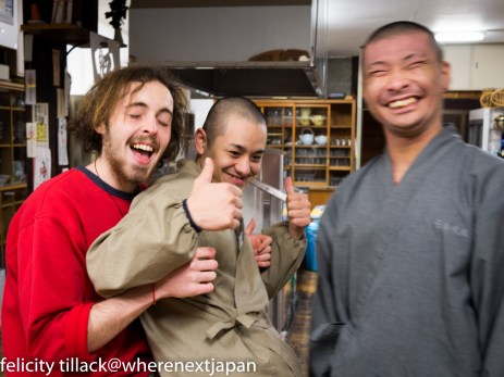 Jack with his room mate Hamu (right), and best-friend(?) Kassan.