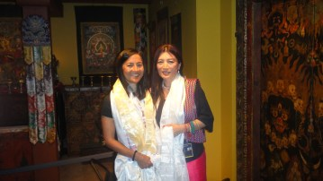 Writer Tsering Wangmo Dhompa with Tashi Chodron of the Rubin Museum © WhereNYC
