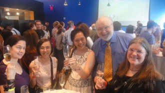 FIAF events are great for meeting new faces and enjoying French wine ©WhereNYC