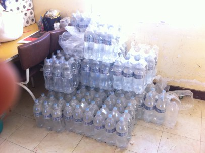 The mountain of water in the dining room