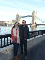 My cousin and I at Tower Bridge