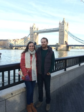 My cousin and I at Tower Bridge