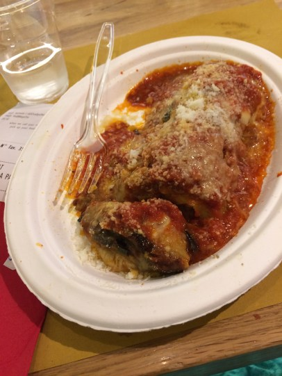 My favorite, eggplant parmesan (the real deal though)