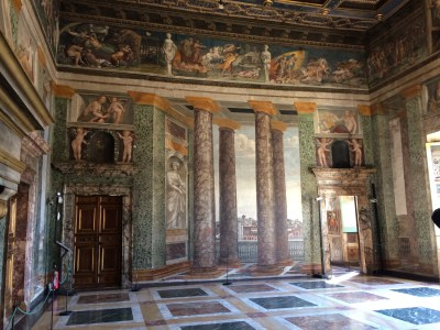 The Room of Perspectives at Villa Farnesia