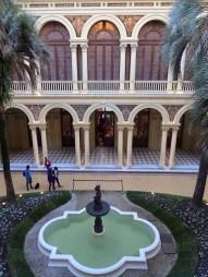 Indoor courtyard.