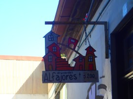 Alfajores the cookie of Argentina and Chile. This man had a shop made 200 a day and closed when we sold out. Had to get there early!