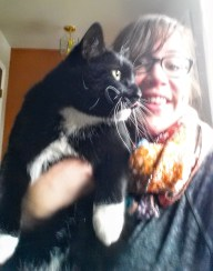 Charlie my friendly cat roommate. We're working on our posing.