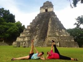 Shooting a Mayan workout video.