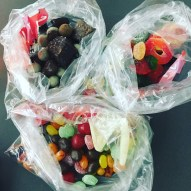 Before boarding a 15 hour flight first be sure to pay wayyyyy too much for some bulk candy!