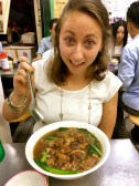 Natalie's soup was legit bigger then her head and instead of a spoon they gave her a ladle. Oops@