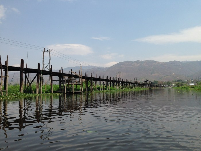 cycling around inle lake