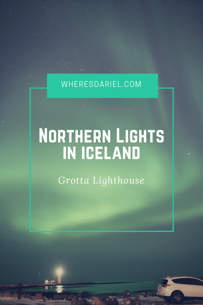 Northern Lights in iceland, Grotta Lighthouse