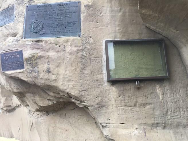 Clark's signature at Pompeys Pillar