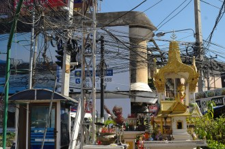 Chaotic power lines and neat temples
