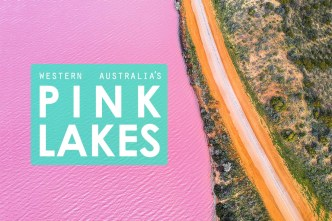 Pink Lakes of Western Australia