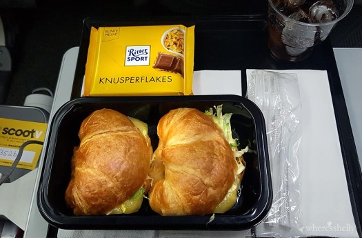 Scoot Airlines meal of a croissant