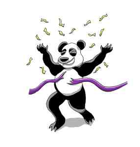 The winning panda, drawn by Fiverr jukra13.