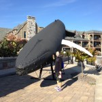 Whale statue in Bar Harbor