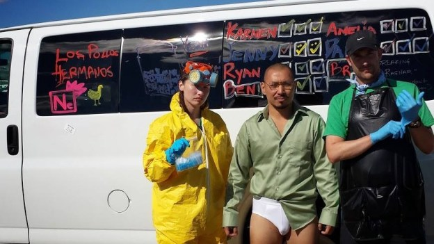 Breaking Bad costumes at Ragnar Relay