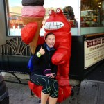 Where's the finish with lobster ice cream statue