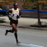 Meb Keflezighi running mile 21 at NYC Marathon