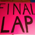 Final lap sign for NYC Marathon