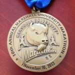 Front of the Marshall Marathon Medal