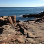 View of the coast near Thunder Hole in Acadia National Park