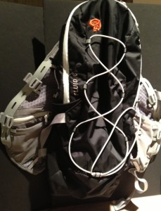Front view of Mountain Hardwear's Fluid 6 backpack
