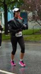 Running Vermont City Marathon 2013 in rain