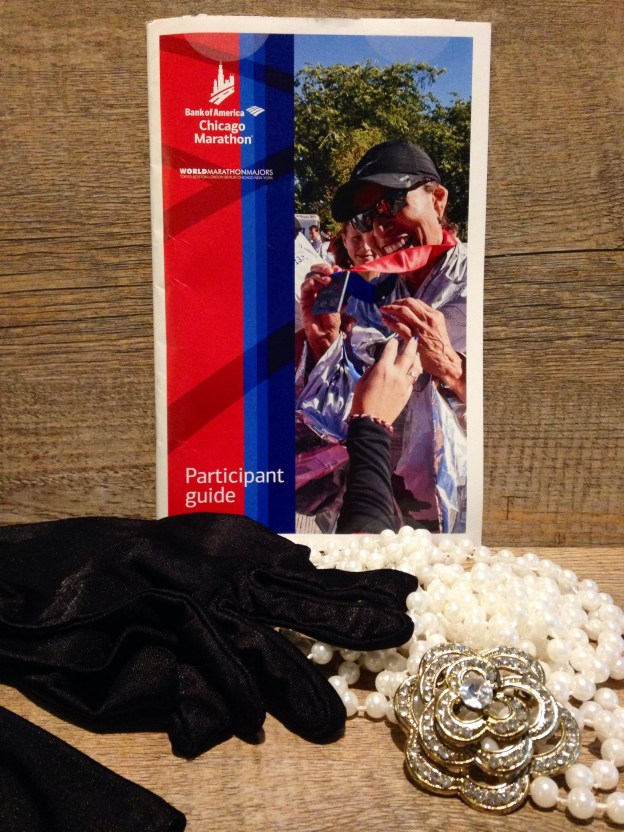 Chicago marathon handbook and costume