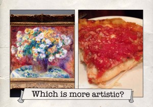 Art and pizza