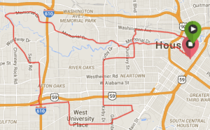 Houston Marathon 2015 route