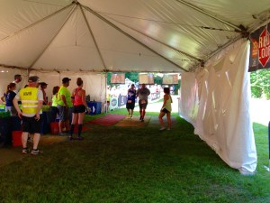 One of the many exchanges made in the tent during our first Ragnar Trail.