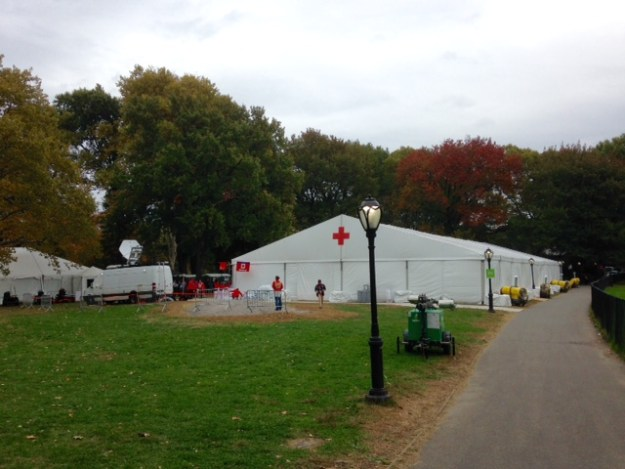 The med tent! (Located just after the finish, on the northern side of Sheep Meadow).