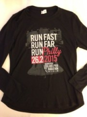 Front of the race shirt.