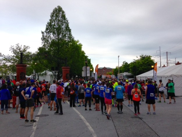 The start of the Delaware Marathon 2016.
