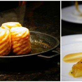 Le Victoria Brasserie Moderne | Ananas pieczony w rumie Zacapa, ananasowy sorbet, sos z marakują