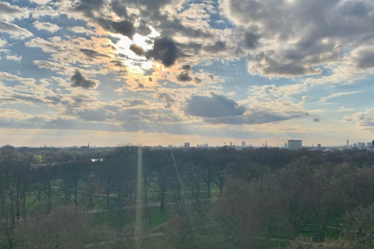 Views over Hyde Park from the Dorchester Rooftop Bar