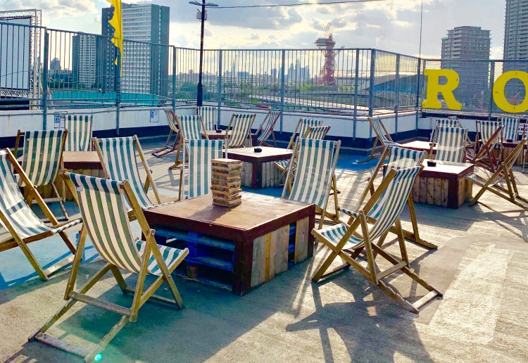 Deck chairs on  rooftop